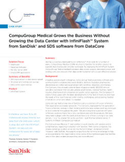 CompuGroup Medical Grows the Business Without Growing the Data Center with InfiniFlash System from SanDisk and SDS software from DataCore