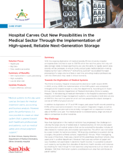 Hospital Carves Out New Possibilities in the Medical Sector Through the Implementation of High-speed, Reliable Next-Generation Storage