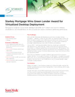 Starkey Mortgage Wins Green Lender Award for Virtualized Desktop Deployment