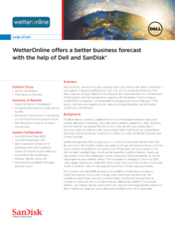 WetterOnline offers a better business forecast with the help of Dell and SanDisk