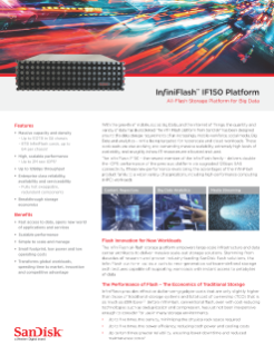 Data Sheet : InfiniFlash IF150 Platform for Big Data